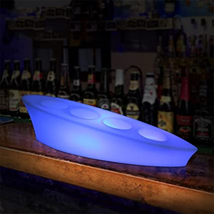 xinye LED portavasos impermeable plástico 16 Color Changer recargable Vino expositor para Bar
