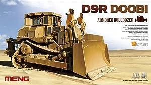 Meng 1:35 Scale D9R Armoured Bulldozer Model Kit (Multi-Colour)