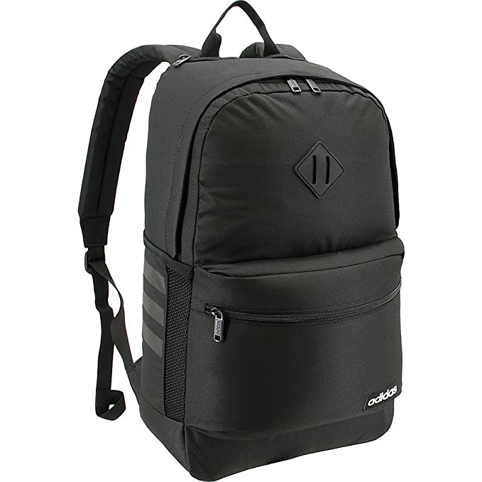 a791c10cc Amazon.com: adidas Classic 3S II Backpack, Black, One Size: Clothing