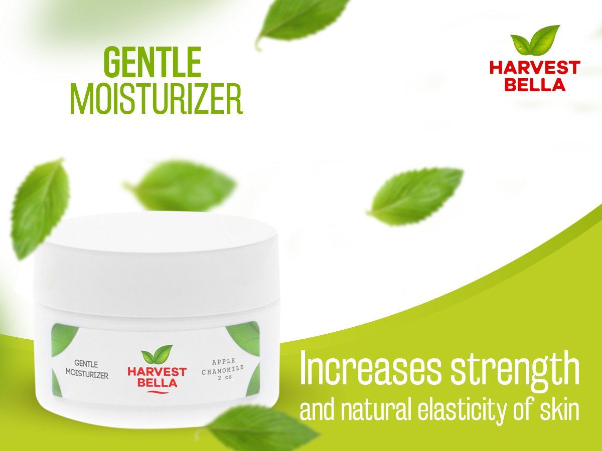 Harvest Bella All Natural Certified Organic Skin Care – Advanced Anti-Aging Vitamins C and E Gentle Moisturizer 2 FL Oz.