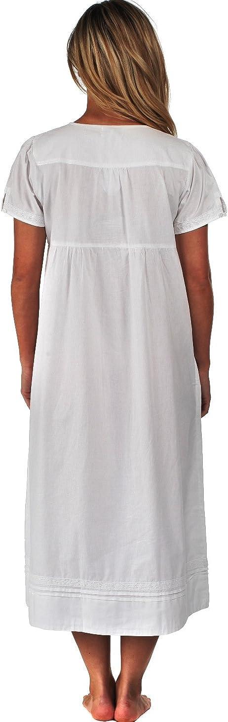 The 1 for U 100/% Baumwolle Nachthemd mit Taschen Lara