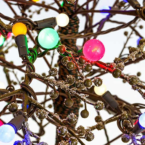 Amazon.com : GE 5ft Pre-lit Brown Branch Tree Winterberry Designer ...