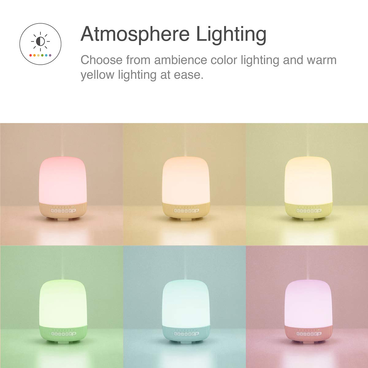 emoi 3-in-1 Aromatherapy Diffuser, Bluetooth Speaker and Multiple Colours Lamp (200ml) by emoi (Image #3)