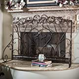 Adalia Black Brushed Gold Finish Wrought Iron Fireplace Screen Review