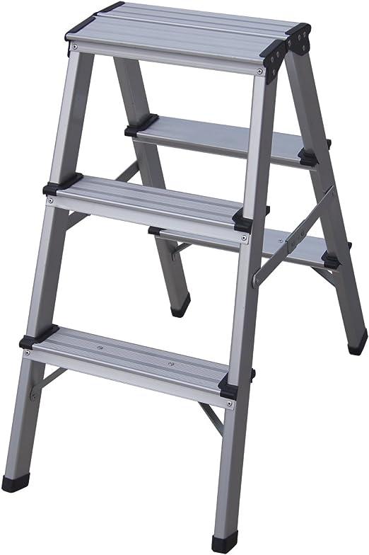 Charles Bentley Mini Escalera Plegable de Aluminio con 3 Paso Para la Cocina: Amazon.es: Jardín