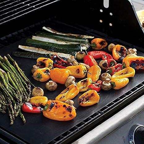 2Stk Antihaft Grillmatte Backfolie BBQ Dauer Backmatte 40x60cm Grillunterlage