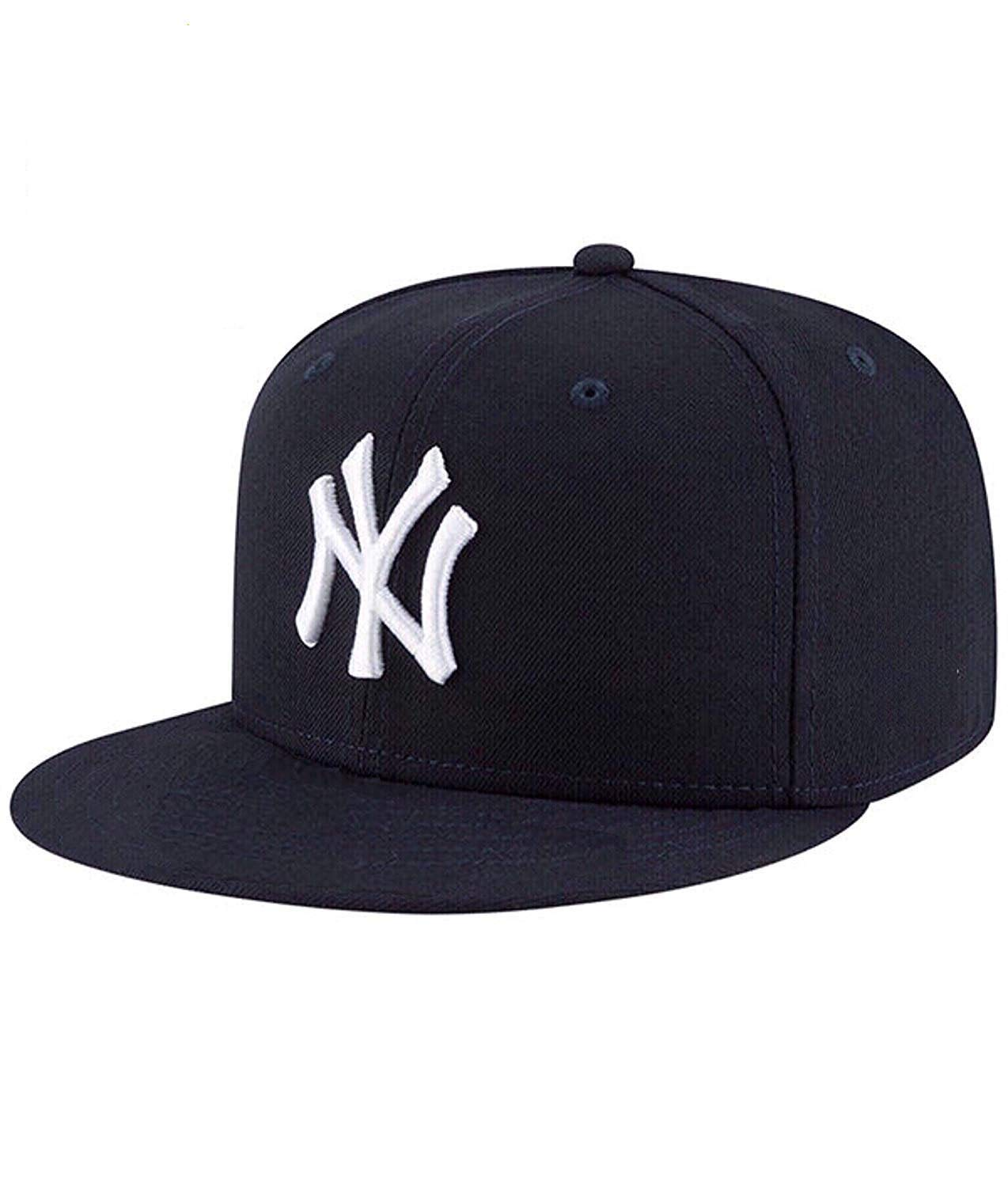5605eab7dc5 Buy Hashtag Solid Ny White Hip Hop Cap Boy s Cotton Snapback Baseball  (Black   White) Online at Low Prices in India - Amazon.in