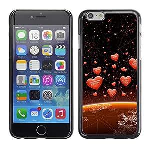 Las amor Diferentes Idiomas En La Tierra - Metal de aluminio y de plástico duro Caja del teléfono - Negro - Apple (4.7 inches!!!) iPhone 6 / 6S
