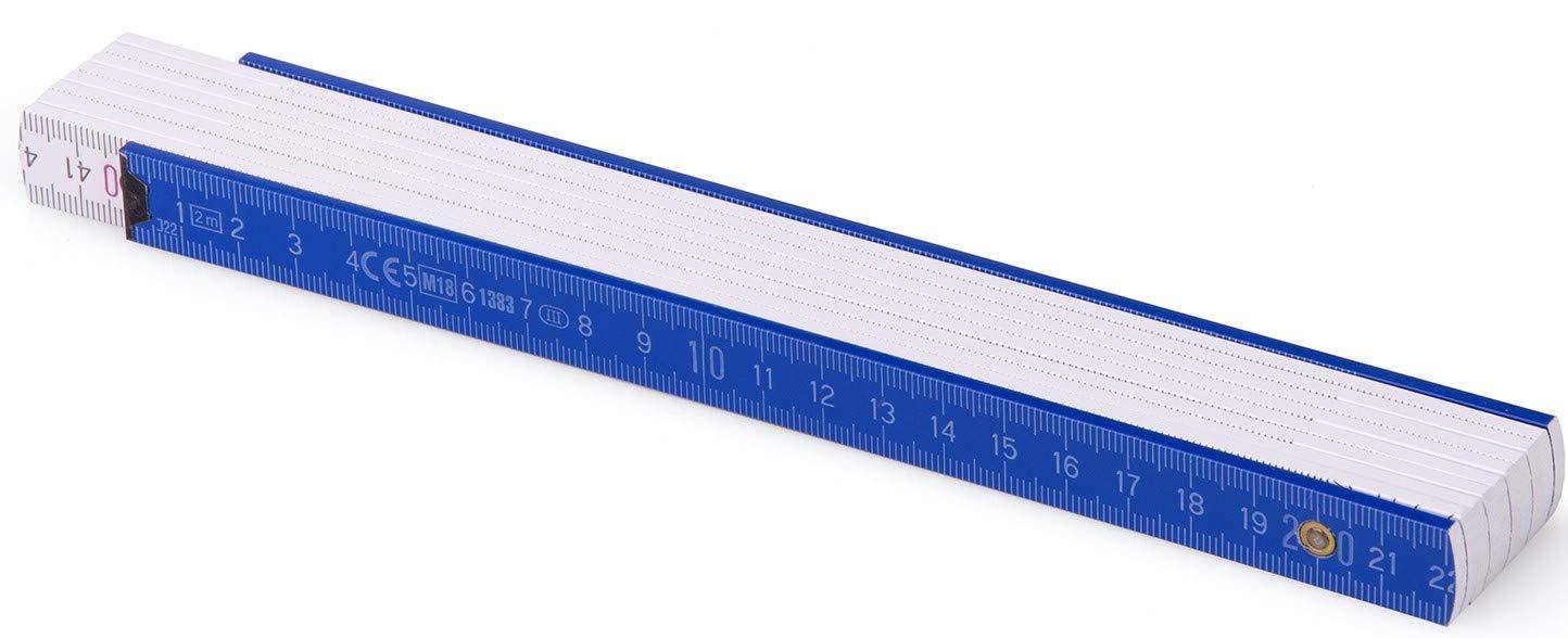Duplex Colorato scala/-/2/m/-/BL52/ Metro pieghevole Pollici Stock