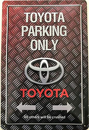 Deko7 Blechschild 30 x 20 cm Toyota Parking Only riffel