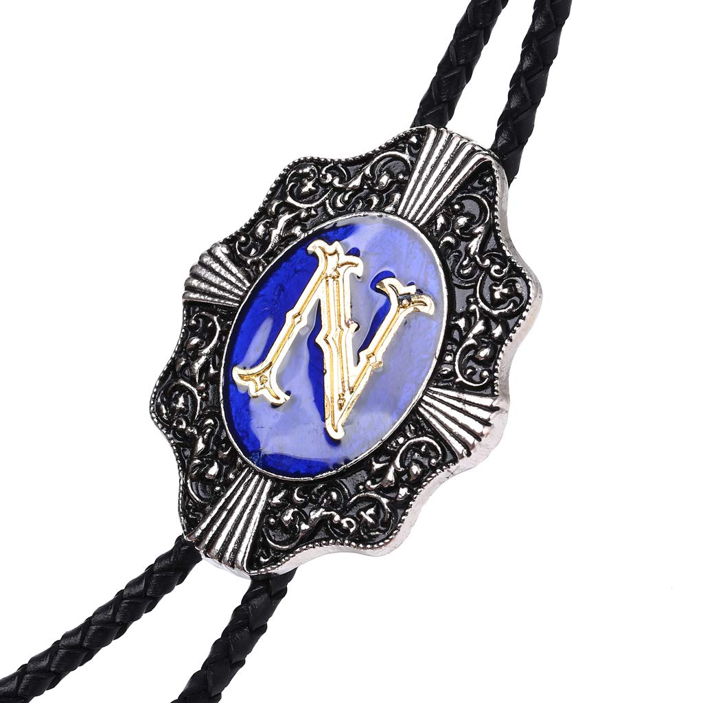 Aalphabet Letter Western Bolo string tie Initial Letters A//B//J//M//R//P Bolo tie for Men Women Kids