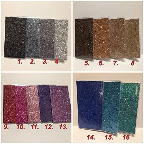 Metallic Checkbook Wallet - Bling Glitter - Clear Vinyl Checkbook cover,Duplicate or Single Checks, No wait Ready to Ship