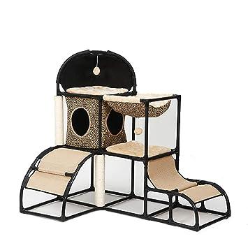 Muebles para Gatos Multifuncionales Gato Escalada Marco Plataforma De Salto De Gato Combinación De Arena para Gatos Juguete De Gato Soporte para Gatos ...