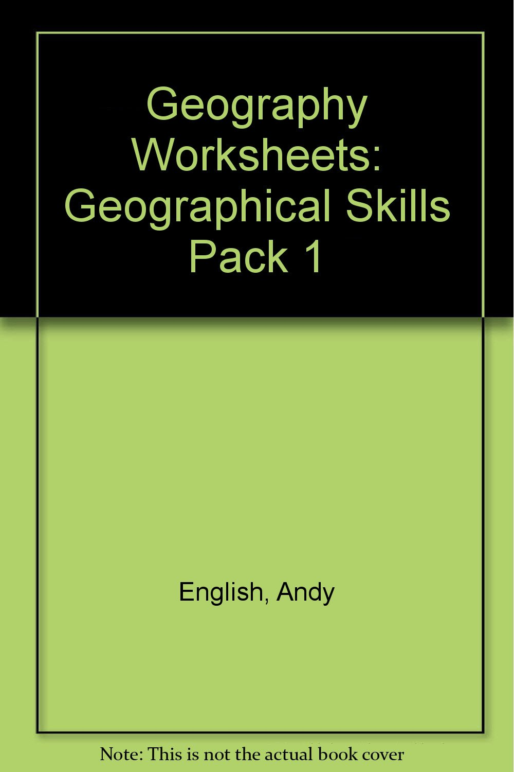 Geography Worksheets Geographical Skills Pack 1 Andy English