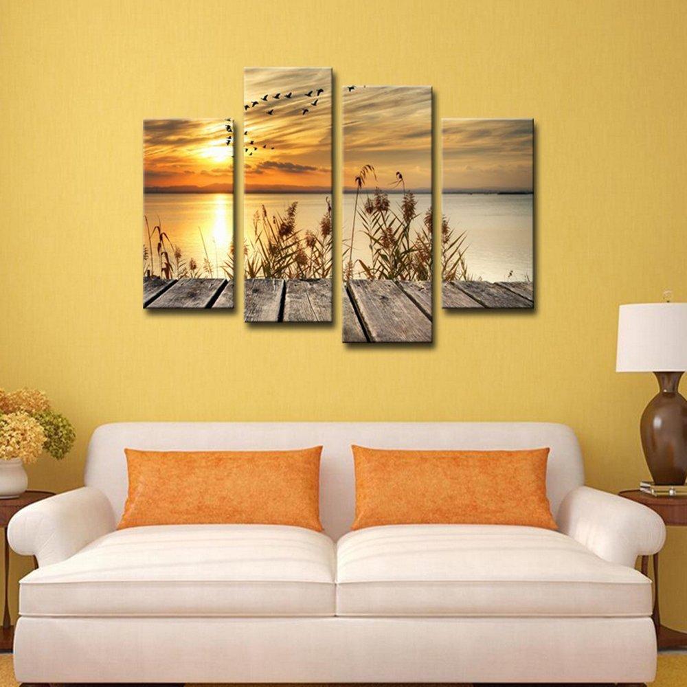 Amazon.com: Noah Art-Rustic Seascape Wall Art Canvas Prints, Dawn on ...