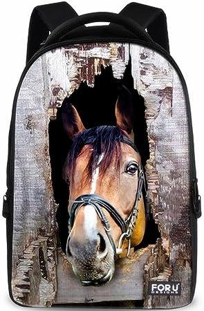 Para diseños de U Cool 3d de caballos lienzo Mochilas de Viaje Exterior de la mochila ...