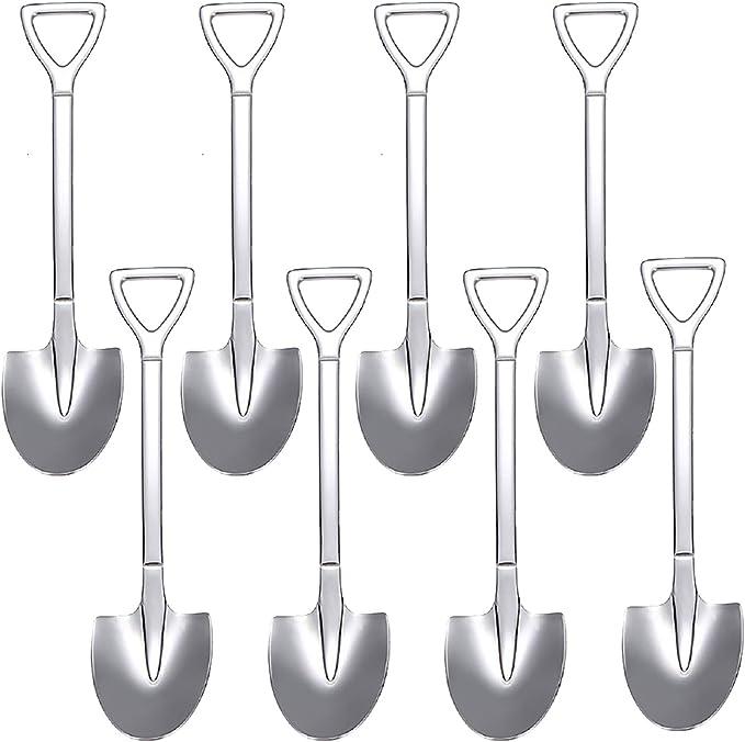 Stainless Steel Shovel Forks Tea Sugar Coffee Spoon Ice Cream Tableware Set SH