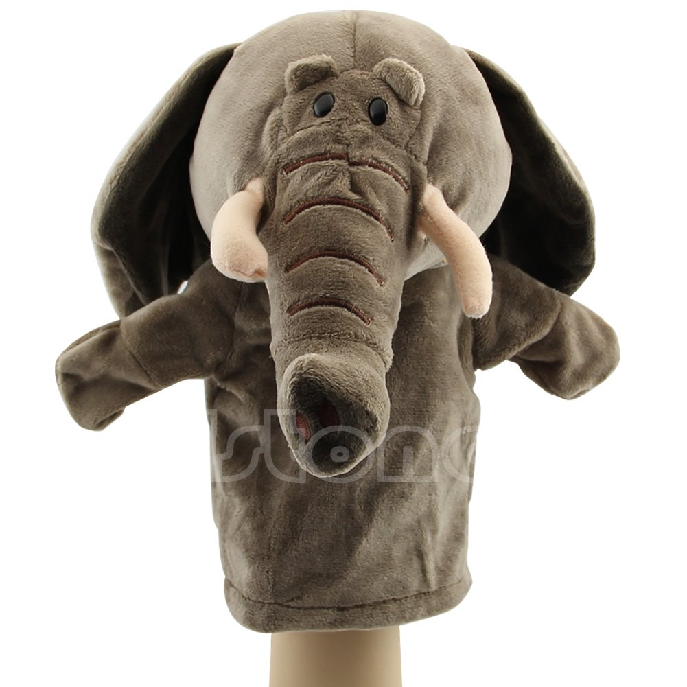 Poity Hand Puppet Elephant Pet Plush Toy Hot Cute Speak Talking Sound Record Hamster Educational Toy for Children Gift Elephant 24/×16 cm