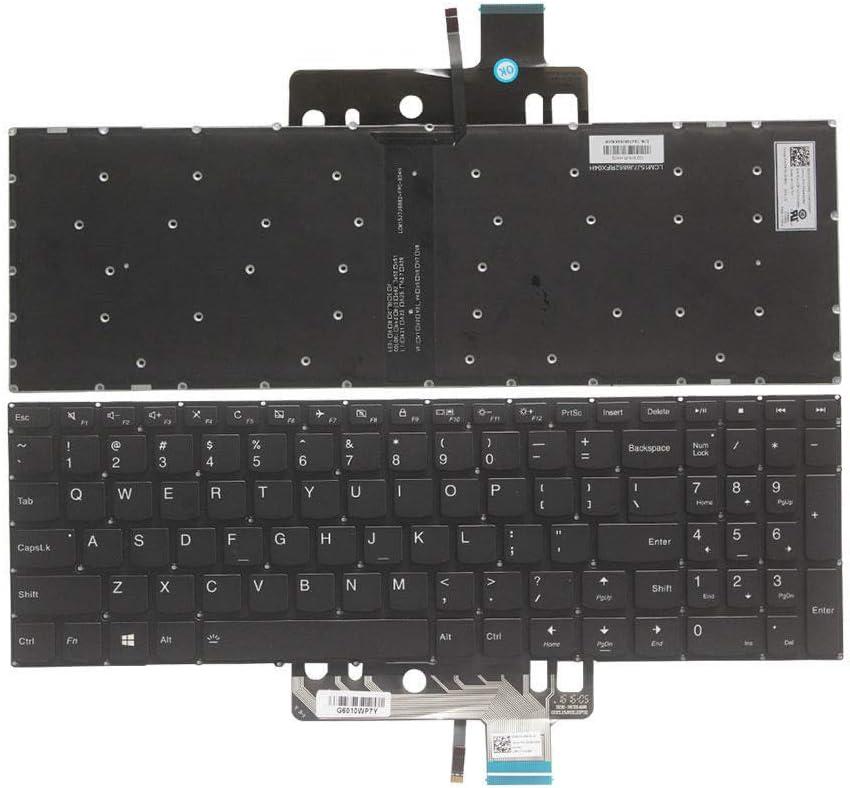 New US Black English Backlit Laptop Keyboard (Without palmrest) Replacement for Lenovo Flex 4-15 4-1570 4-1580 80SB Ideapad 310s-15isk 310s-15ikb 510-15IKB 510-15ISK Light Backlight