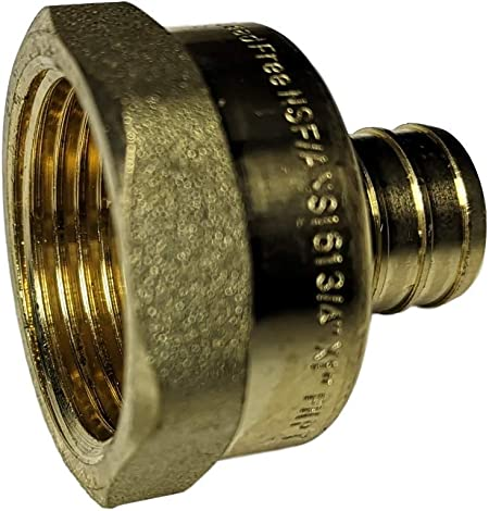 LEAD FREE BRASS 5 PIECES XFITTING 1//2 PEX X 1//2 MALE NPT THREADED ADAPTER-BRASS CRIMP FITTING FULL PORT