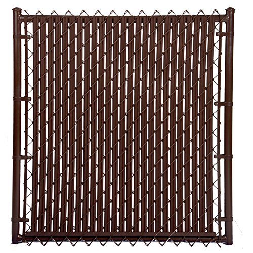 4ft Brown Ridged Slats For Chain Link Fence Hardware Home