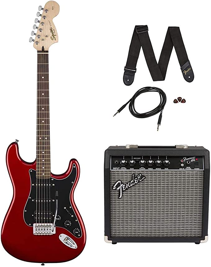 Squier Affinity Strat Pack HSS CAR · Set guitarra eléctrica: Amazon.es: Instrumentos musicales