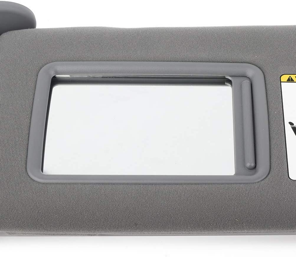 ECCPP 74320-35C10-B0 Gray Sun Visor Left Driver Side fit for 2005-2011 Toyota Tacoma Automobile Windshield Visor without Sunroof
