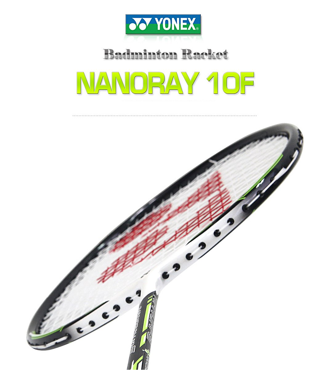 Yonex NANORAY 10F NEW Badminton Racket 2017 Racquet Lime 4U/G5 Pre-strung with a Half-length Cover (NR10F-LIME) by Yonex (Image #1)