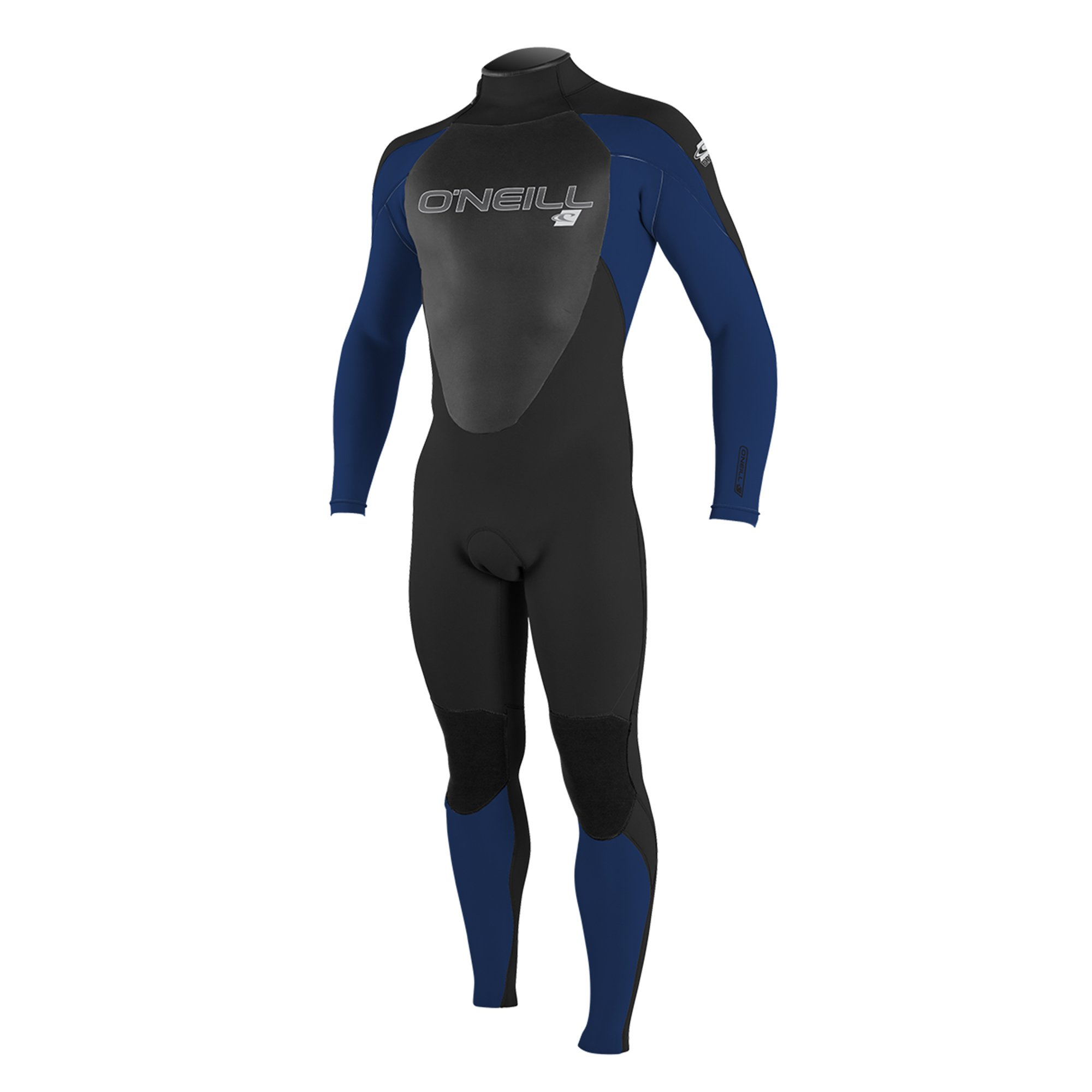 O'Neill Men's Epic 4/3mm Back Zip Full Wetsuit, Black/Navy/Black, Small