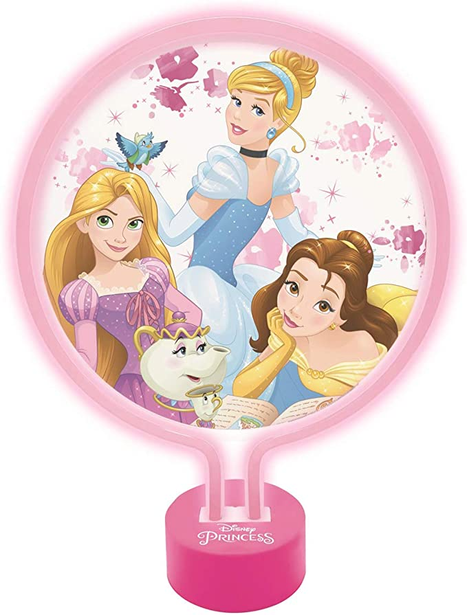 LEXIBOOK Disney Princesas-Lámpara de Neón, luz Nocturna para Las ...