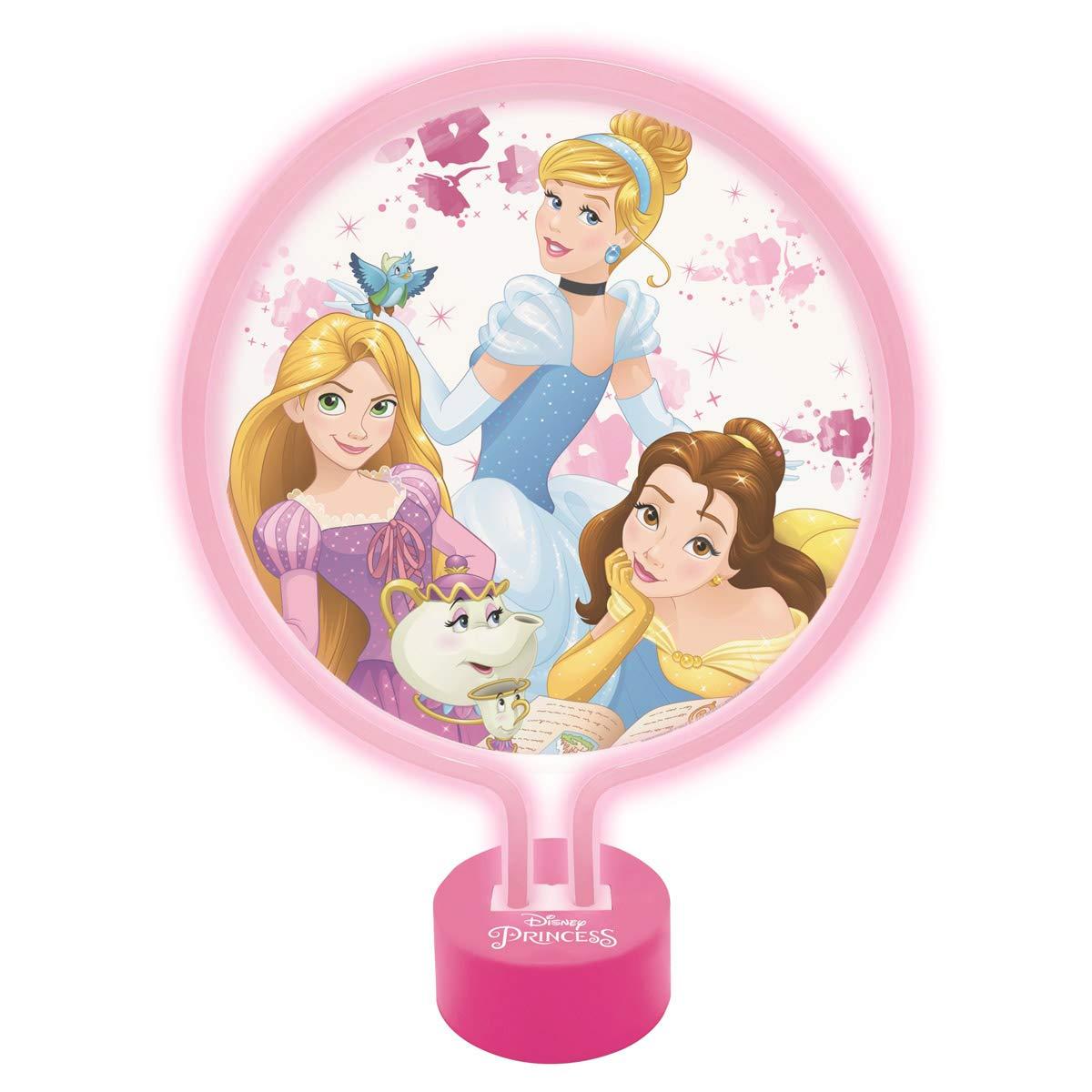 LEXIBOOK Disney Princesas-Lámpara de Neón, luz Nocturna para ...