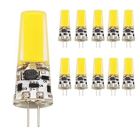 Pack de 10 G4 Bombilla LED Pera, 5 W 400 lúmenes, COB LED bombilla, ...