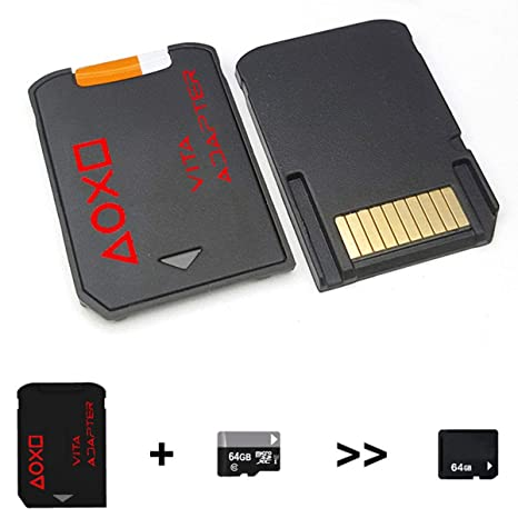 Nosii Adaptador de Tarjeta de Memoria SD2Vita 3.0 Micro SD ...