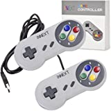 iNNEXT 2 x Manette de Jeu SFC SNES/ Classic USB Gamepad Super Game Controller SNES Joystick pour Windows PC Mac Raspberry pi