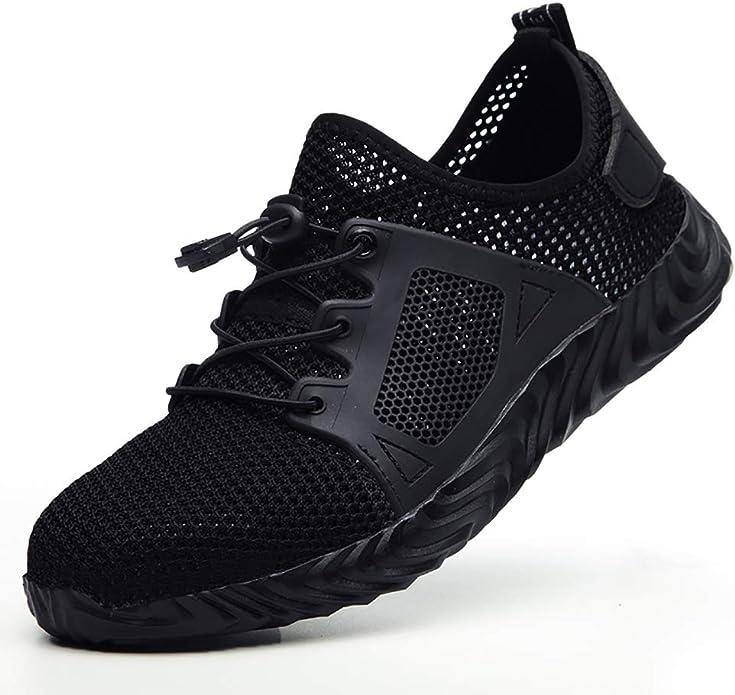 Ligero Calzado de Seguridad Antideslizante Trekking Comodo Zapatos de Trabajo Industrial Deportivo para Hombre Mujer Sitio Monta/ña Asfalto