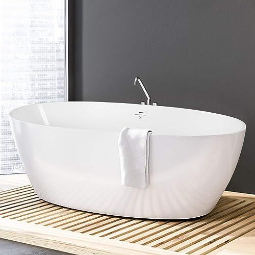 FerdY Tahiti 67″ Freestanding Bathtub Elegant Oval Shape