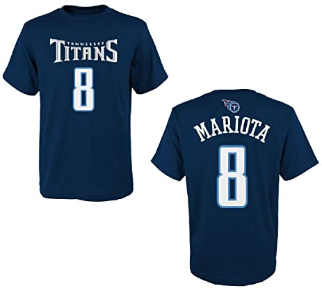 1b60da4dc24b ... Marcus Mariota Tennessee Titans Youth Mainliner Jersey Name and Number T-  shirt Small 8 ...