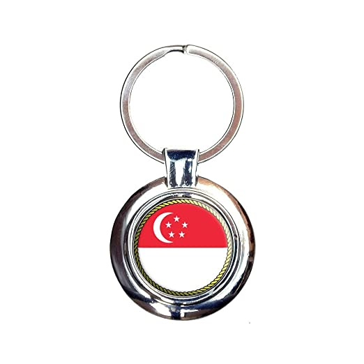 Amazon.com  Flag of Singapore Keychain Key Ring  Clothing 5335b585aed3