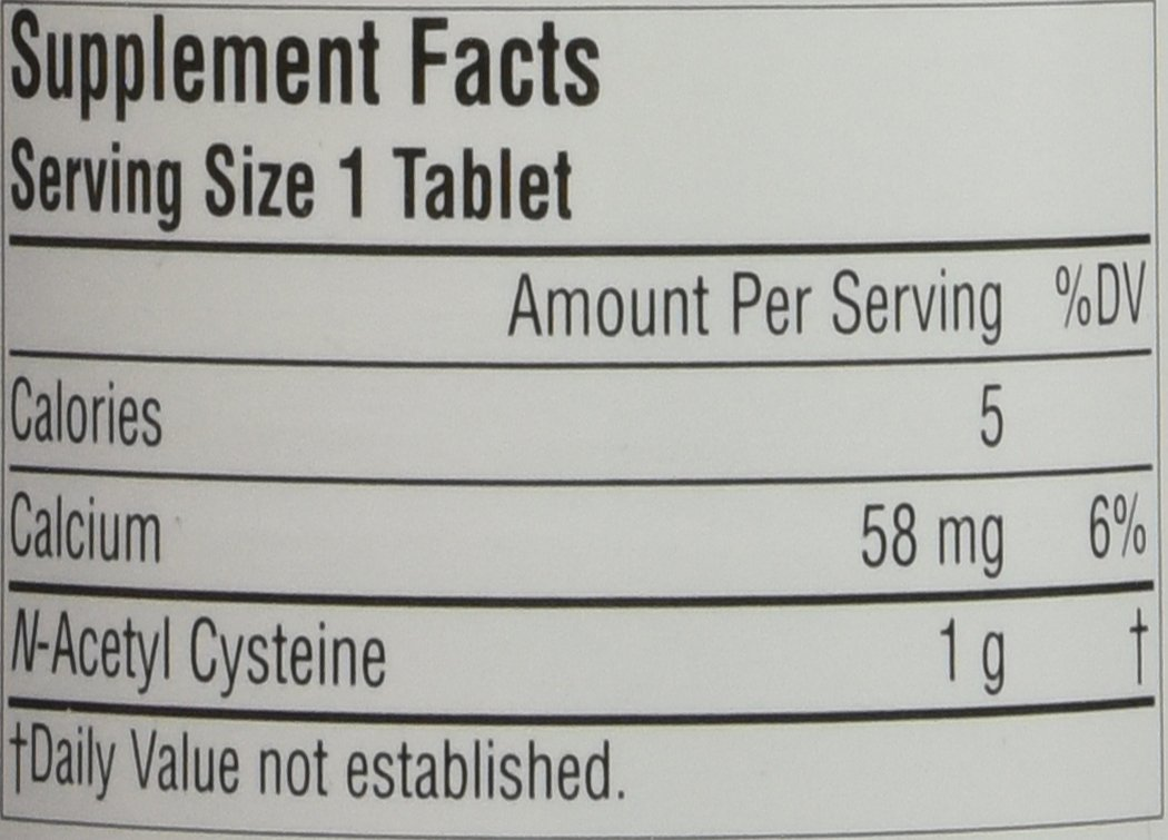 Source Naturals N-Acetyl Cysteine 1000mg , 120 Tablets - 2 pack by source naturals (Image #2)
