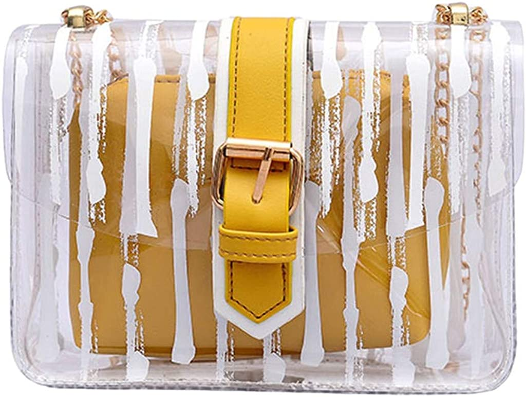 Luckycat Transparente Bolso, Mujer Bolso Transparente Candy Verano Bolso Bolsos Messenger bolsa viaje perfecta para sus accesorios Bolsa playa o para artículos de higiene y cosméticos Bolsa multiusos