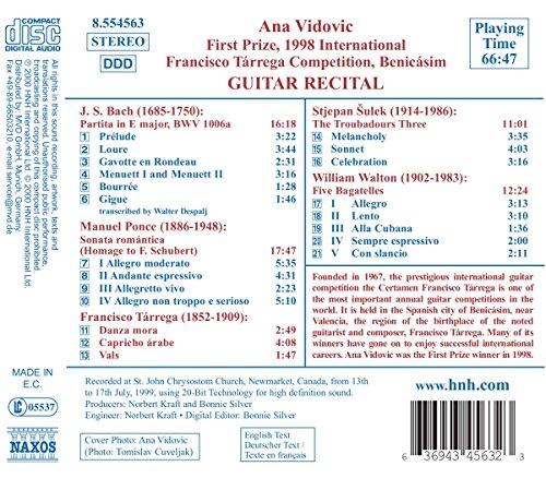 Vidovic Ana: Guitar Recital: Ana Vidovic: Amazon.es: Música