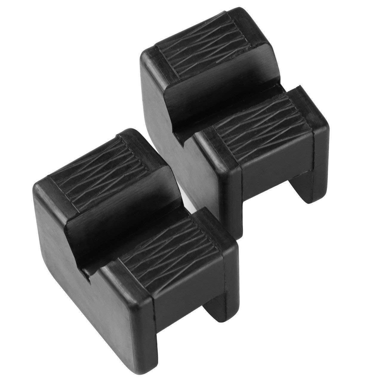 2pcs Jack Pad Universal Slotted Rubber Frame Rail