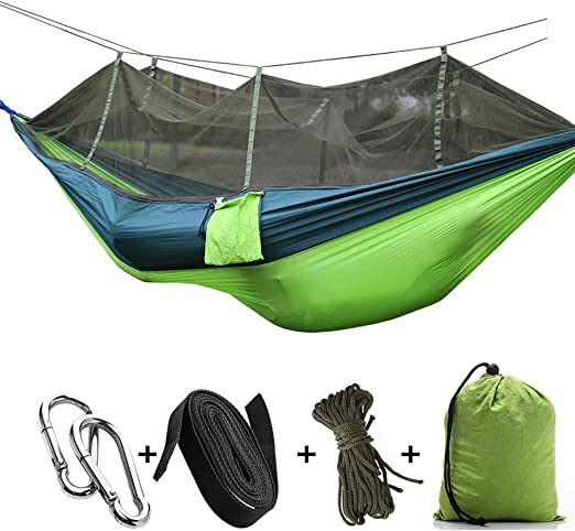 Outdoor Camping Hammock Mosquito Net Sleeping Swing Nylon Hanging Bed Portable