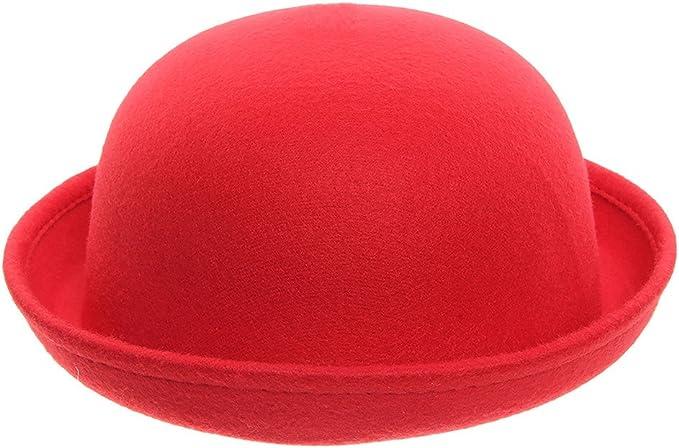 La Vogue Women Roll Brim Plain Bowler Hat One Size Billycock Hat