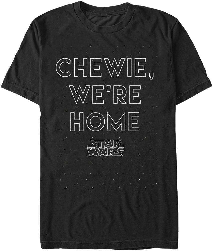 Men's Star Wars The Force Awakens Chewie We're Home T-Shirt