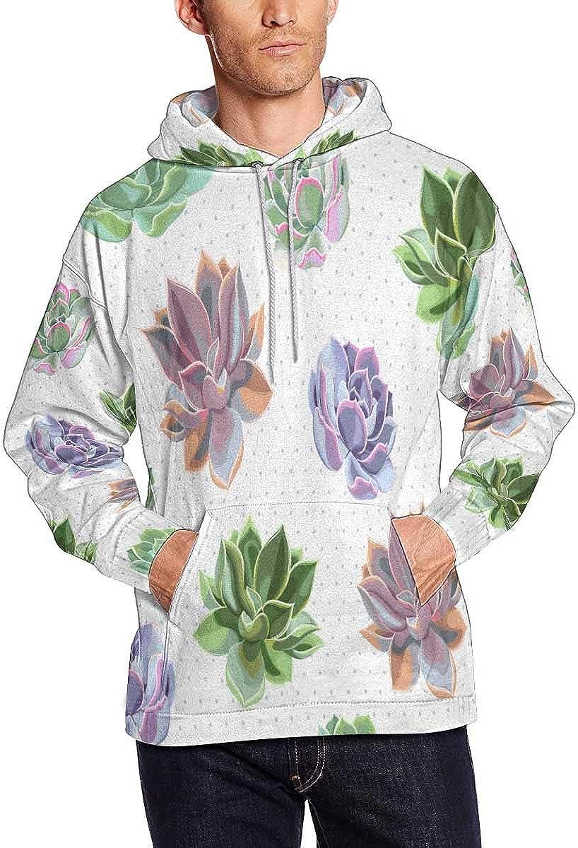 INTERESTPRINT Mens Colorful Exotic Birds Sweatshirts Hoodie
