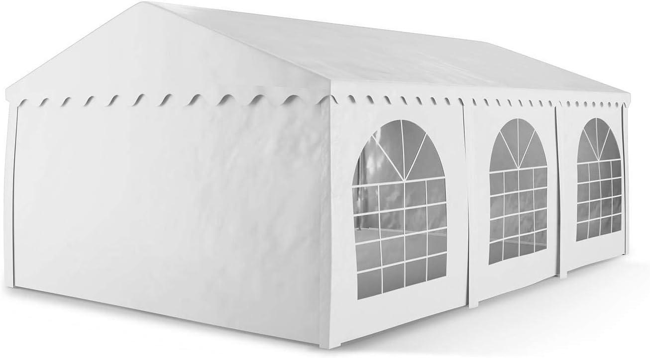 blumfeldt Sommerfest Carpa de Fiestas PVC Impermeable ignífuga 4x6m Superficie 500 g/m² (Pabellón Exterior, Ventanas, Estructura Robusta, Paredes ...