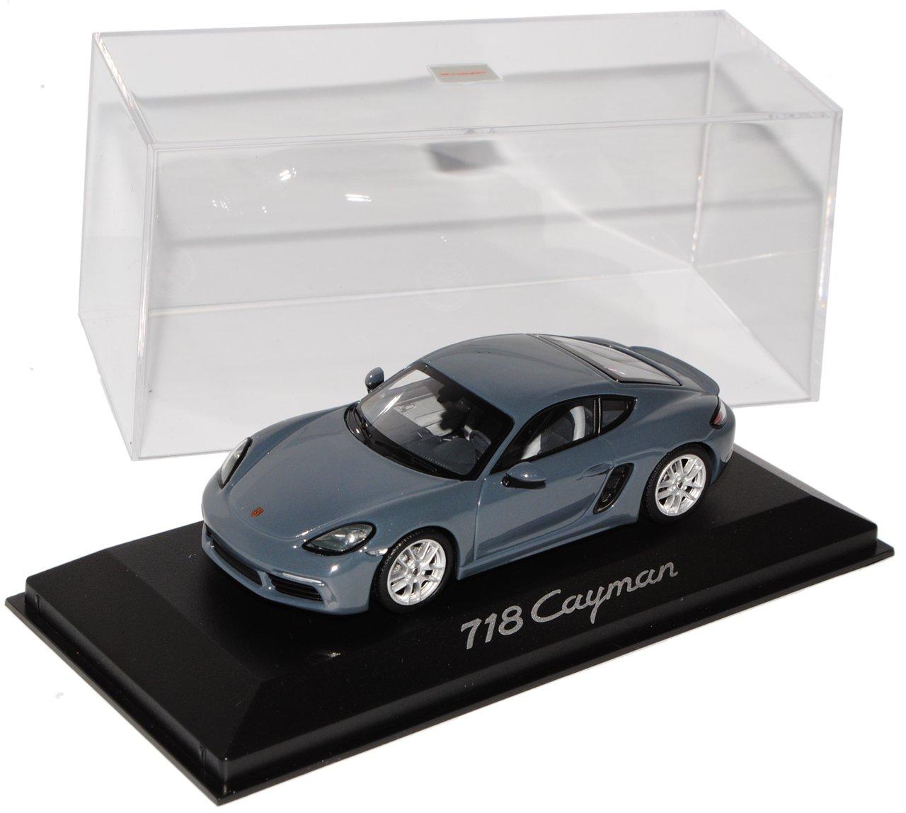 Minichamps Porsche 718 Cayman Grau Coupe Ab 2016 1/43 Modell Auto mit individiuellem Wunschkennzeichen