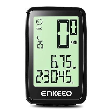 amazon com enkeeo wired bike computer usb rechargeable bicycleenkeeo wired bike computer usb rechargeable bicycle speedometer odometer with 12 hour backlight display, current