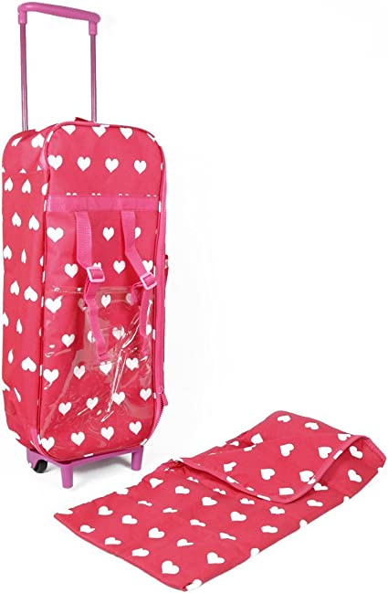 Bedding Accessories Gift Set 18 Inches Doll Travel Carrying Case /& Bed